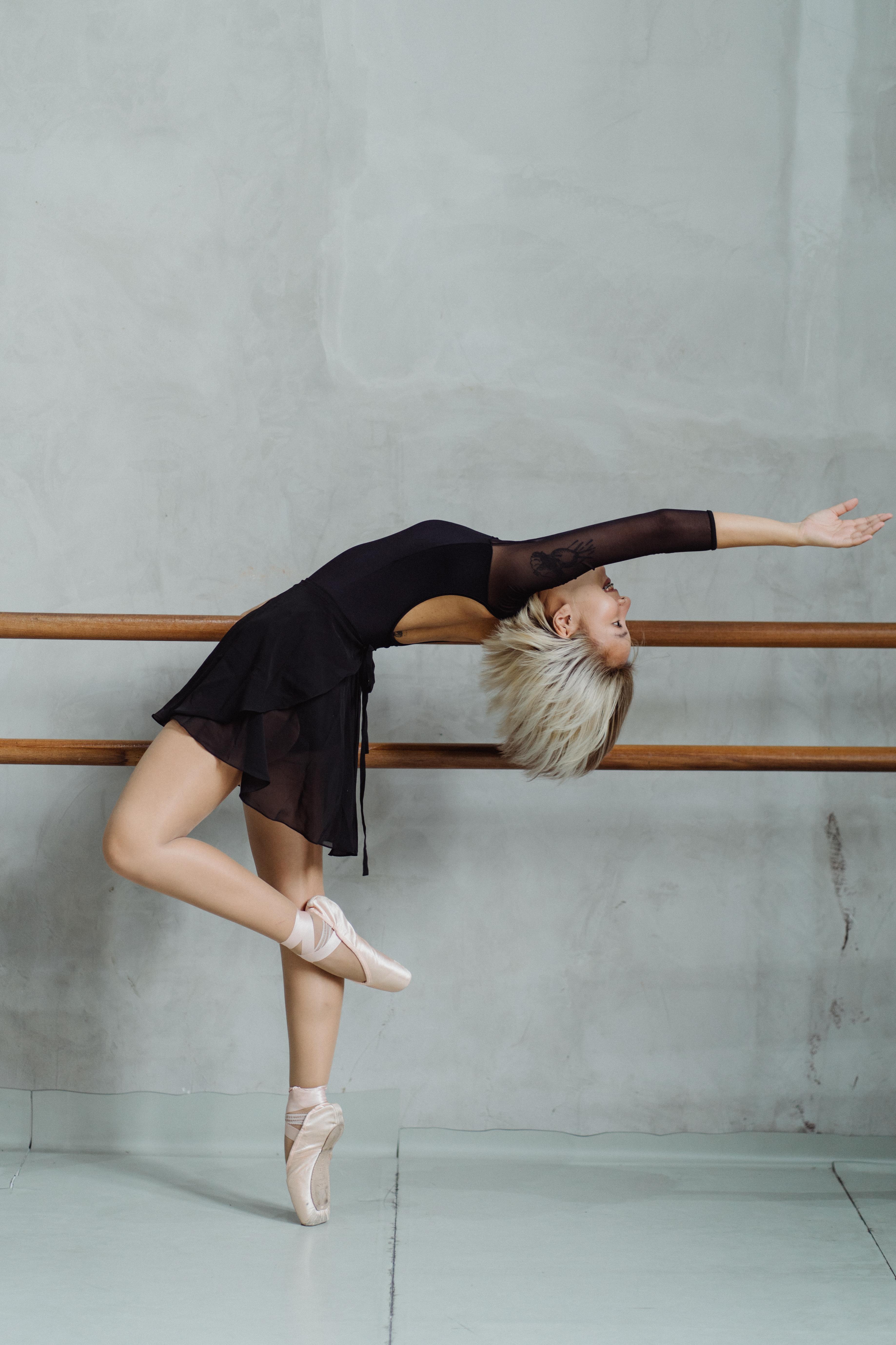 photo of ballet dancer doing warm ups