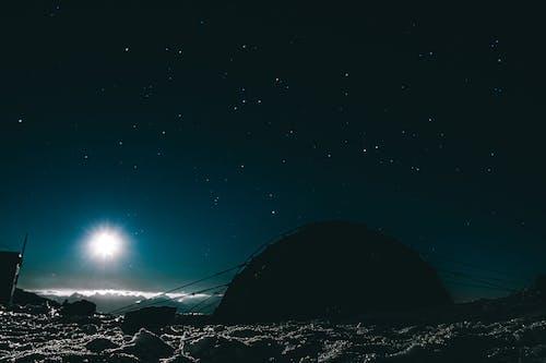 Free stock photo of night mountain