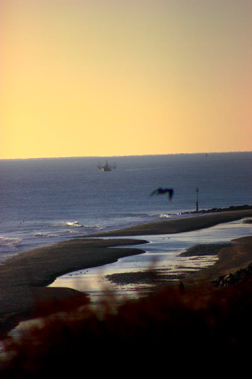 Free stock photo of fishing boat, sea, sunrise