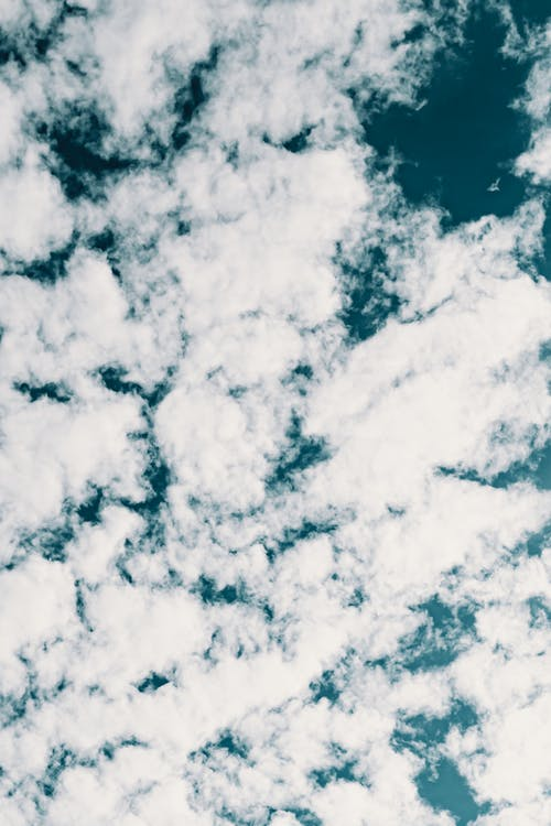 Cloudy sky in sunny day