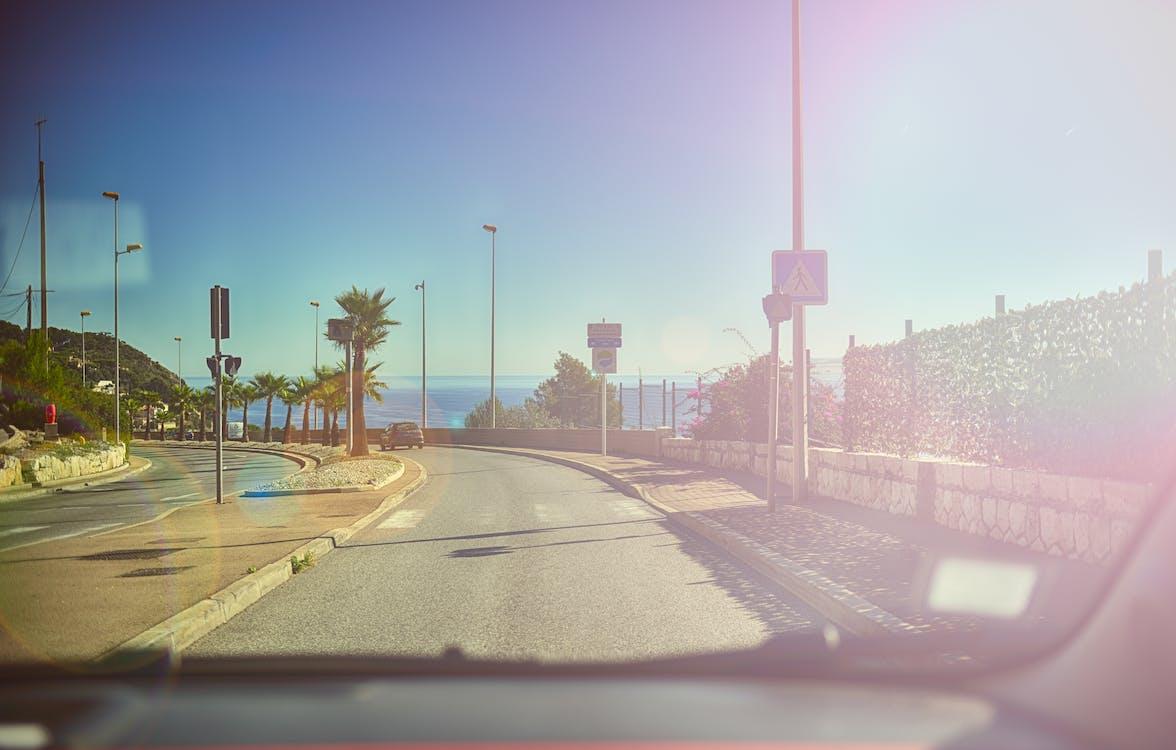 automobil, condus, drum