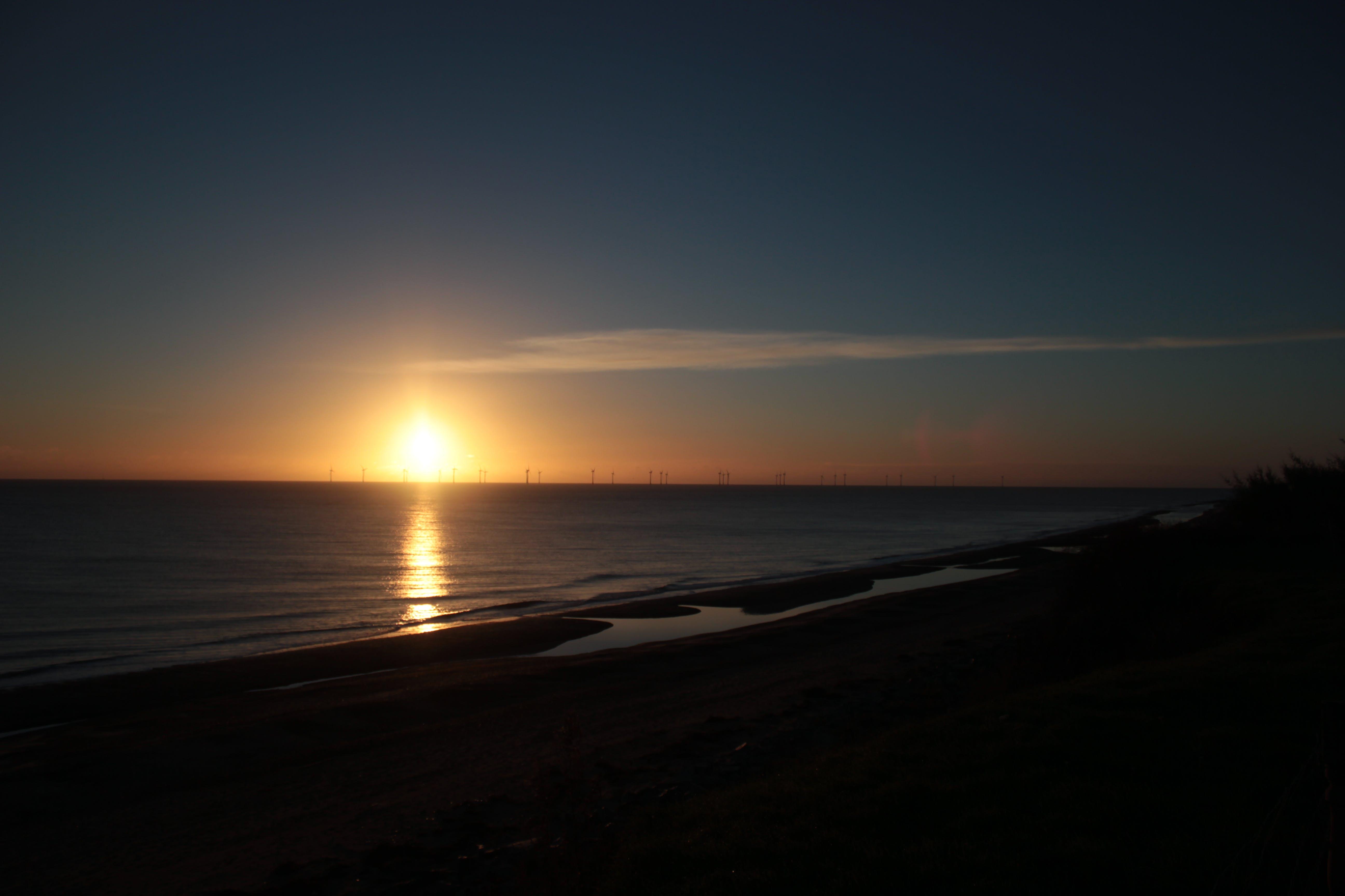 Free stock photo of beach, sea, sunrise