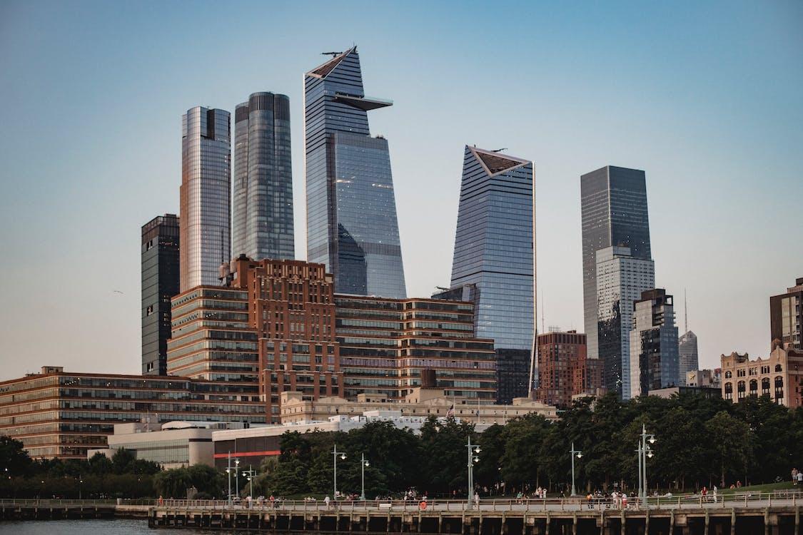 Megapolis Moderna Con Alti Grattacieli Nel Centro Cittadino