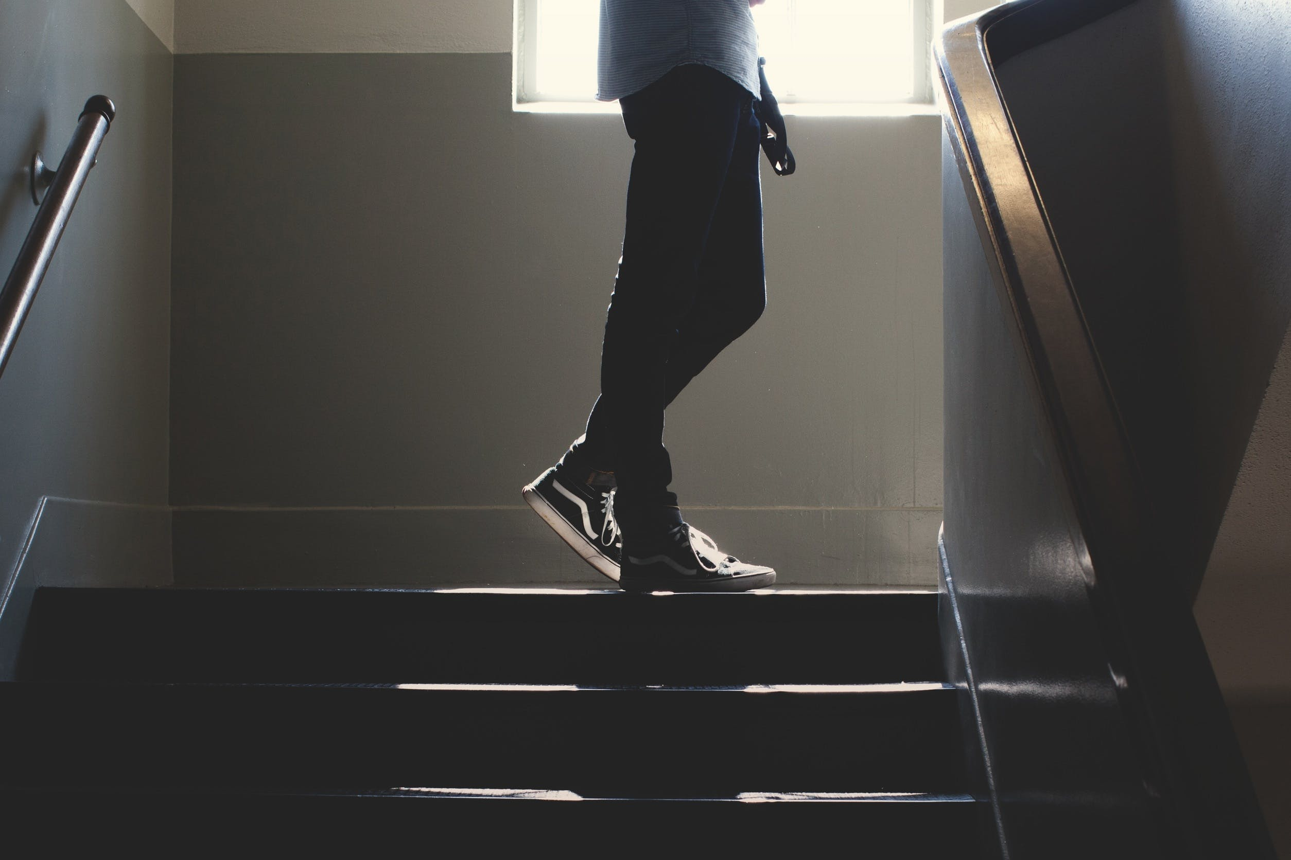 Free stock photo of stairs, man, steps, jeans