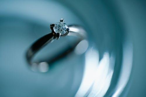 Closeup of ring with diamond
