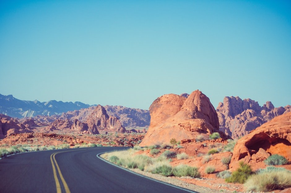 bend, curve, desert
