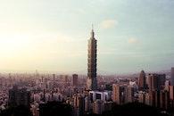 city, skyline, high-rise