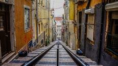 stairs, street, buildings