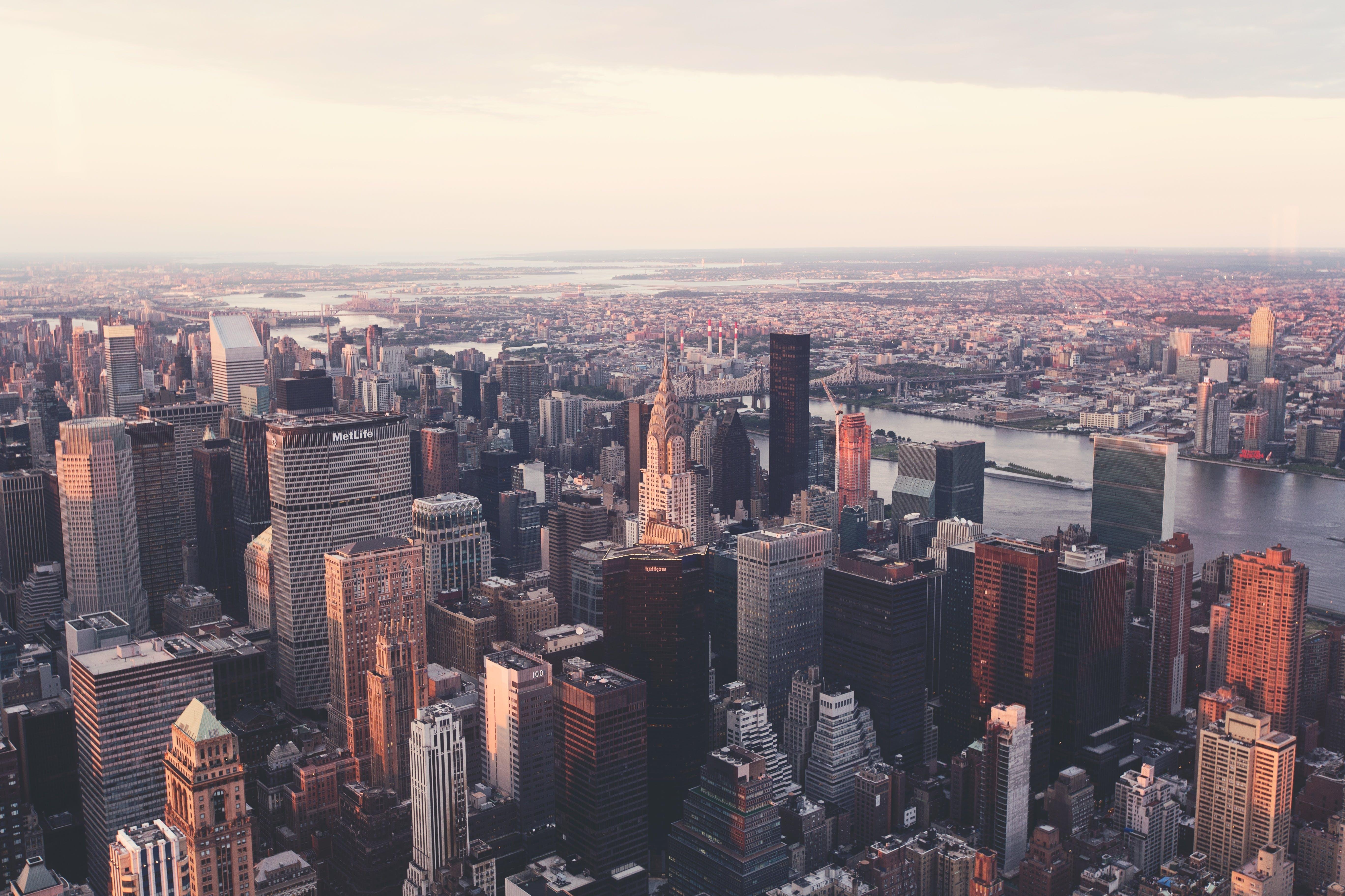 aerial, america, architecture
