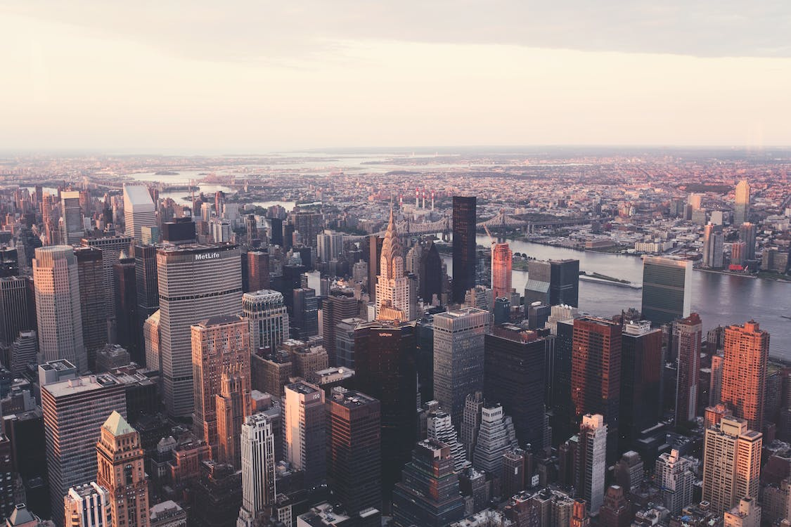 Free stock photo of aerial, america, architecture