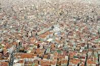 city, bird's eye view, houses