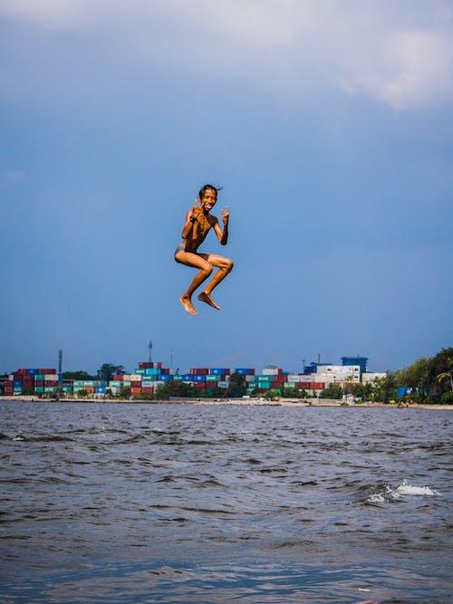 Free stock photo of happy, jump, kids
