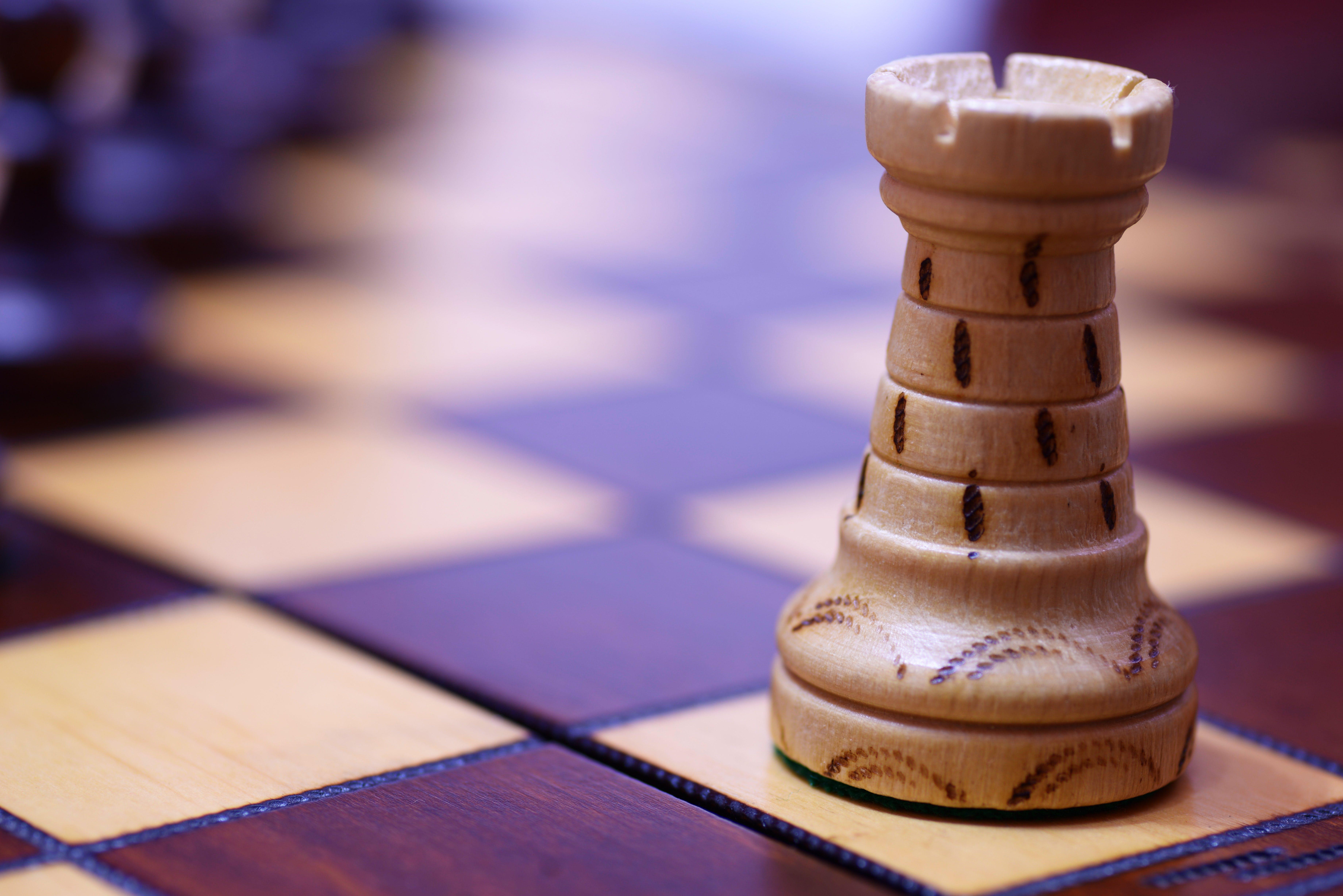 White Chess Rook