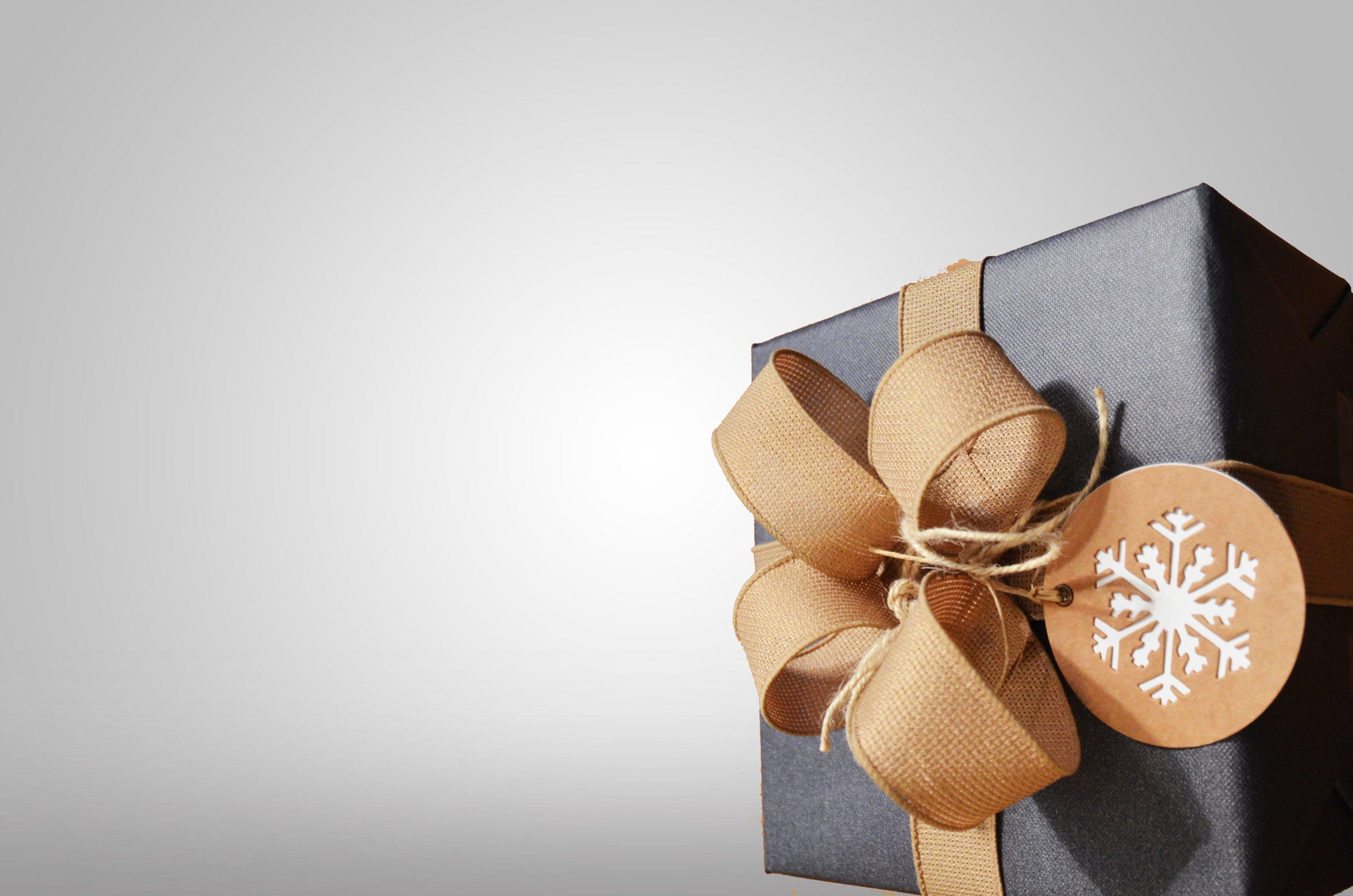 Free stock photo of winter, gift, black, present