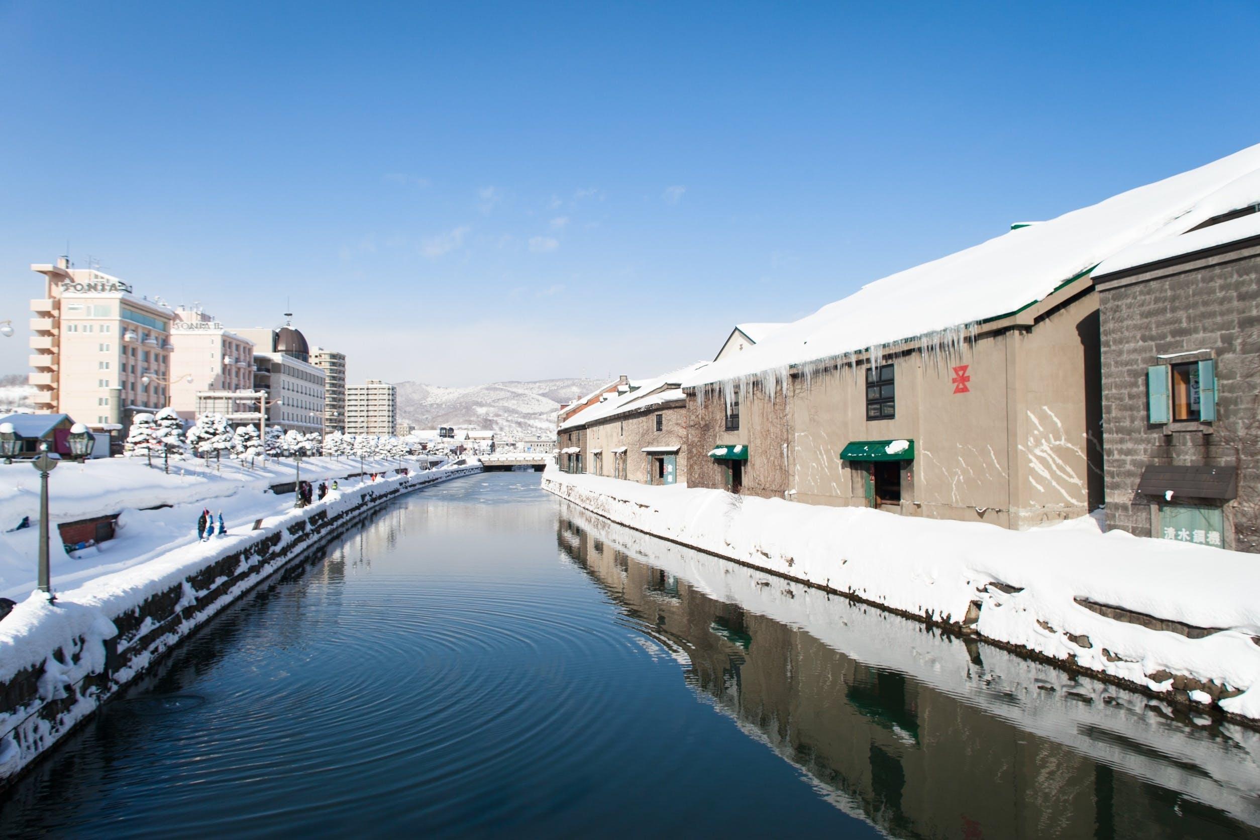 Free stock photo of snow, sky, water, blue