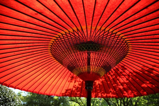 Free stock photo of red, summer, colorful, umbrella