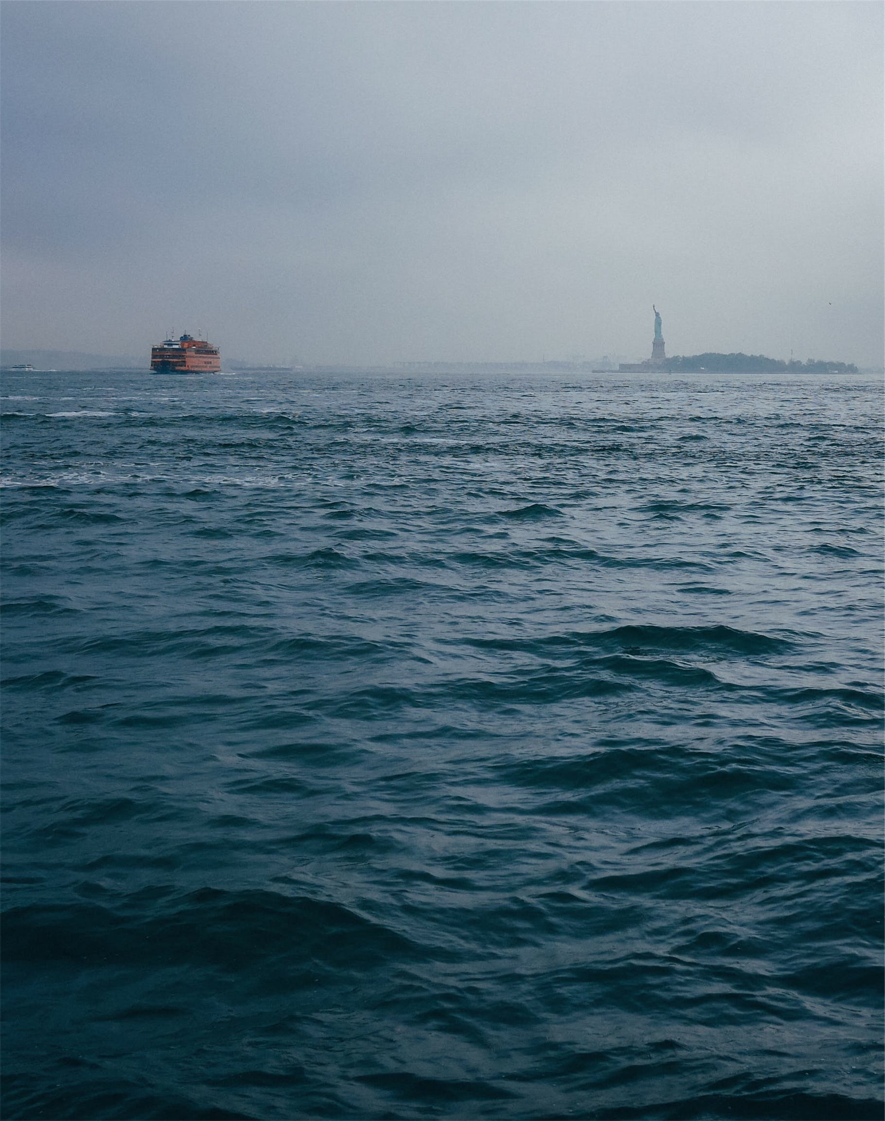 Free stock photo of water, boats, new york, Statue of Liberty