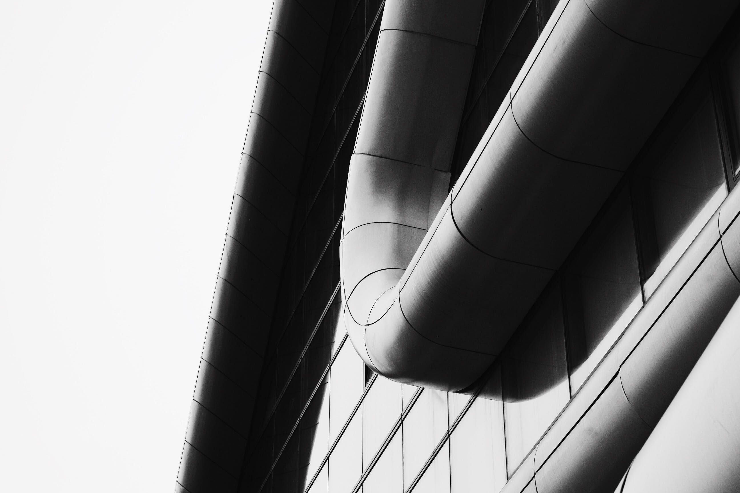 Free stock photo of abstract, architecture, black-and-white, building