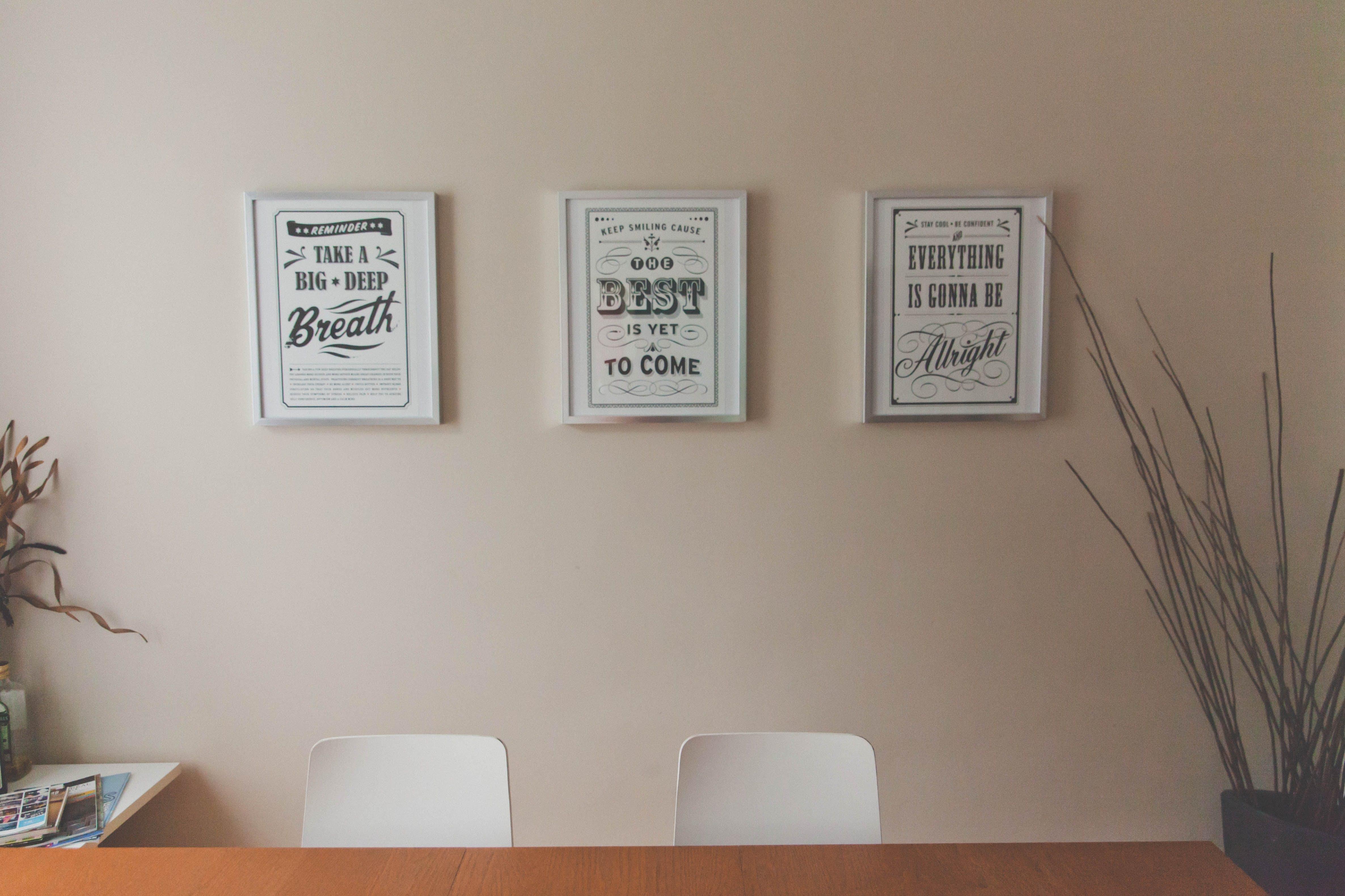 Free stock photo of creative, banner, desk, typography