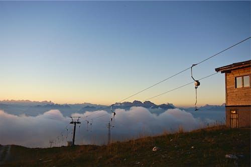 原本, 天空, 山, 房屋 的 免费素材照片