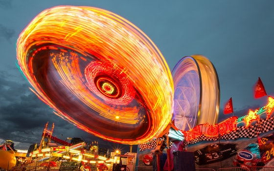 Free stock photo of lights, night, amusement park, fun fair