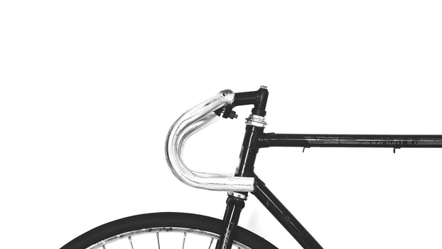 Black and Stainless Steel Mountain Bike