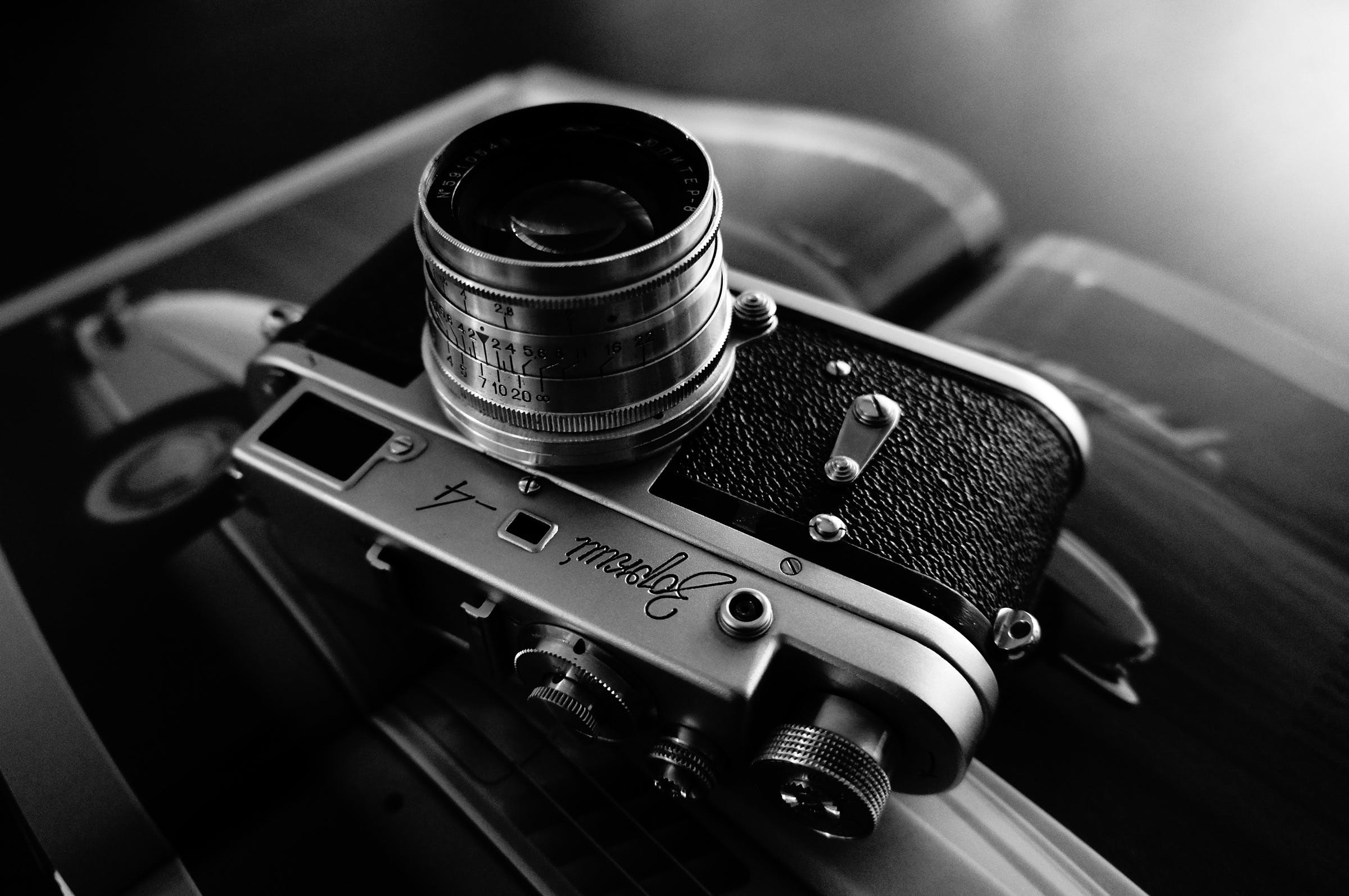 Free stock photo of black-and-white, camera, photography, lens