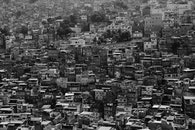 black-and-white, city, houses