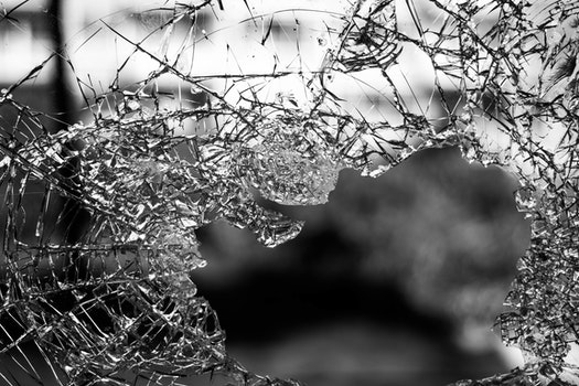 Hole on Shattered Glass