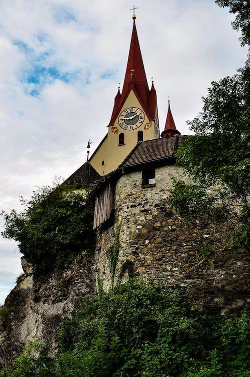 Free stock photo of 4k wallpaper, alte kirche, basilika, berg