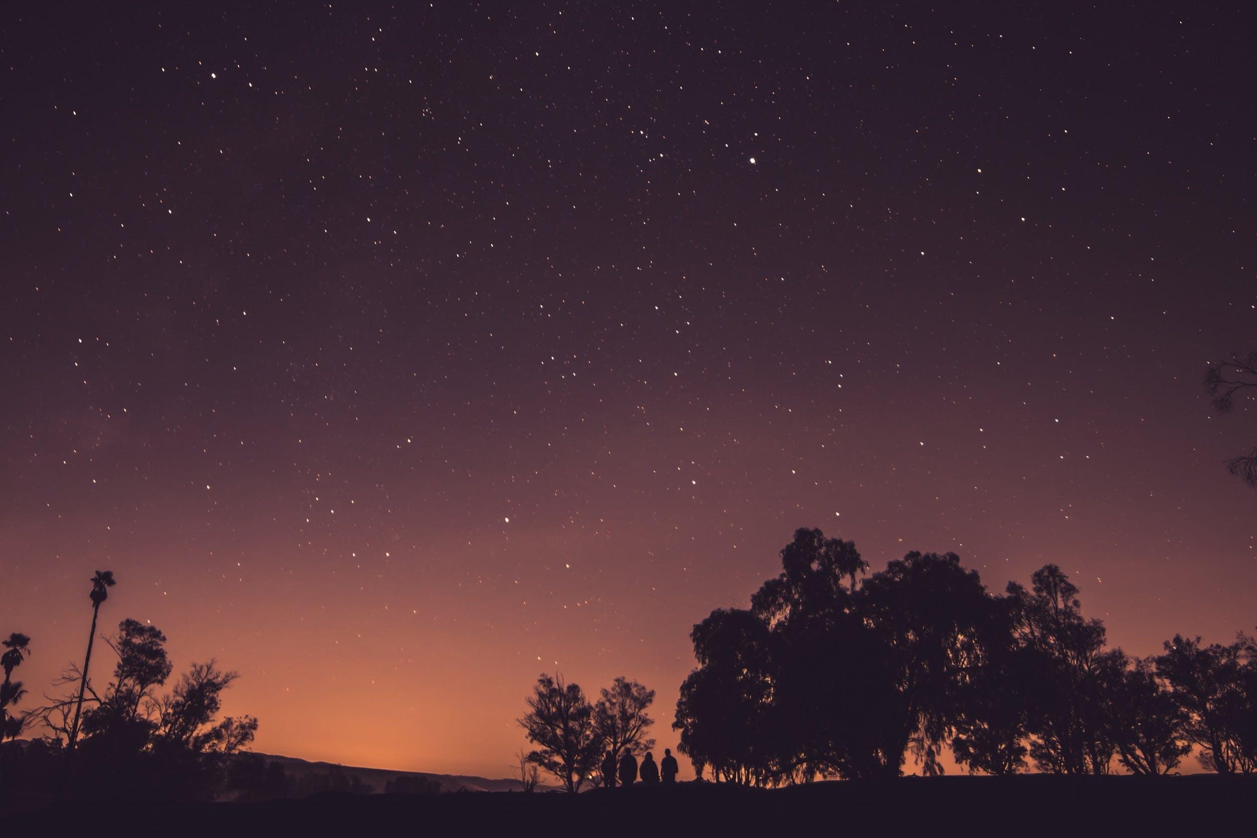 Free stock photo of dusk, evening, galaxy, night