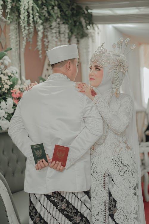 Woman Wearing a Wedding Dress