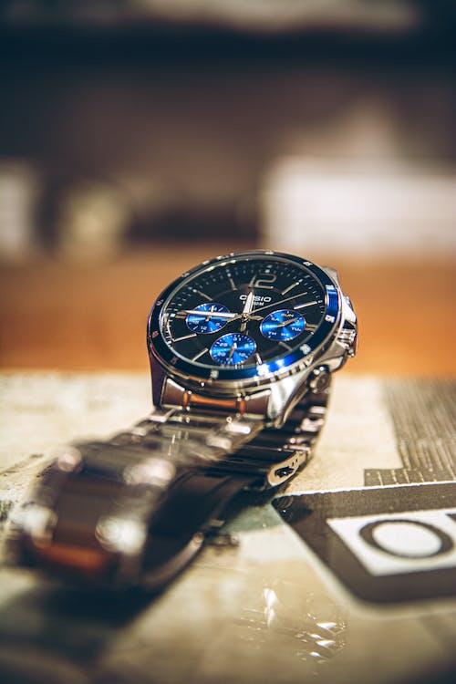 Gratis arkivbilde med Analog klokke, armbåndsur, casio