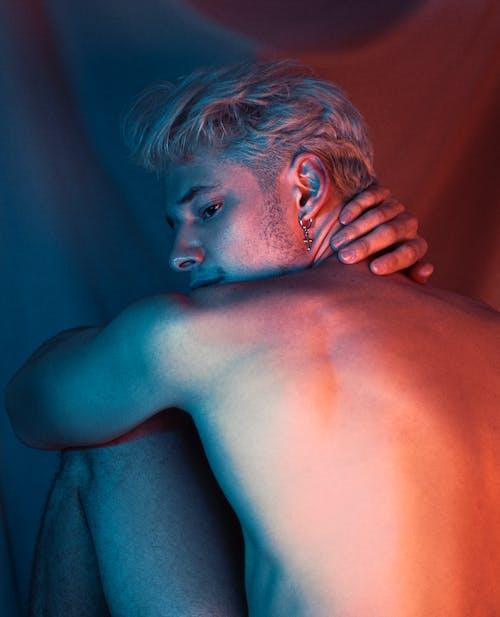 Photo of Shirtless Man