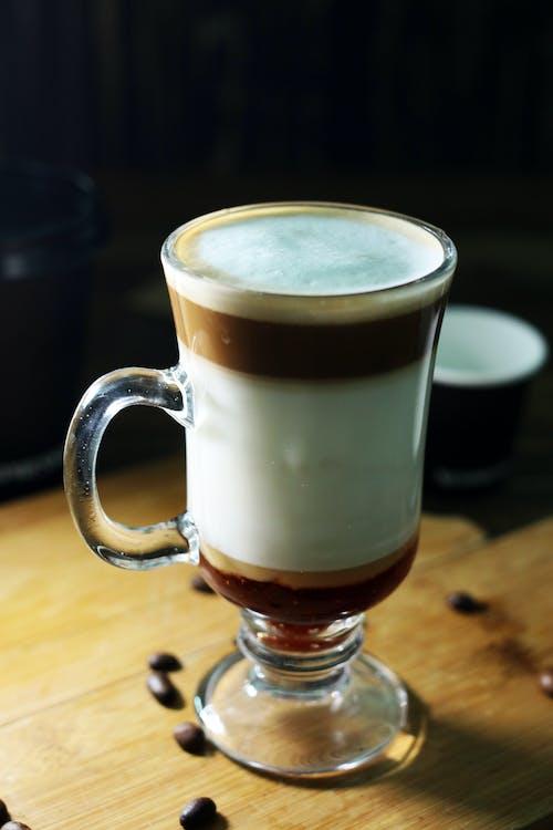 Clear Glass Mug With Coffee
