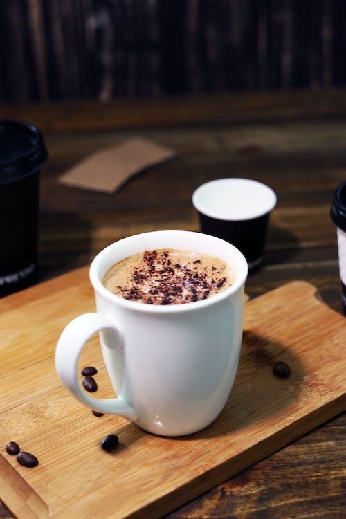 White Ceramic Mug with Coffee