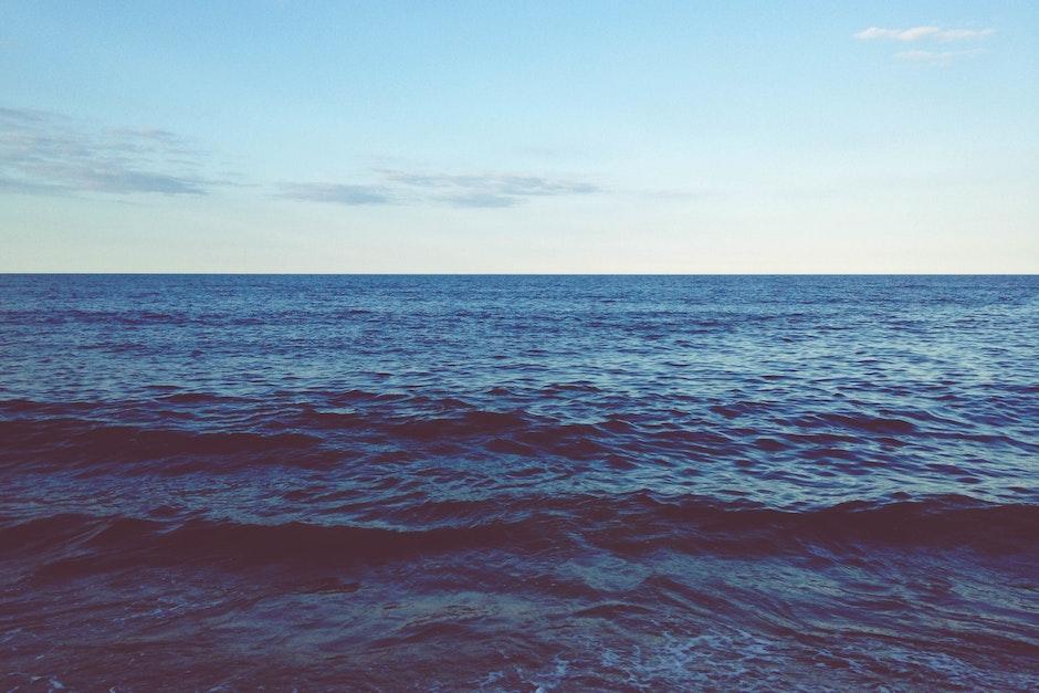 horizon, ocean, salt water