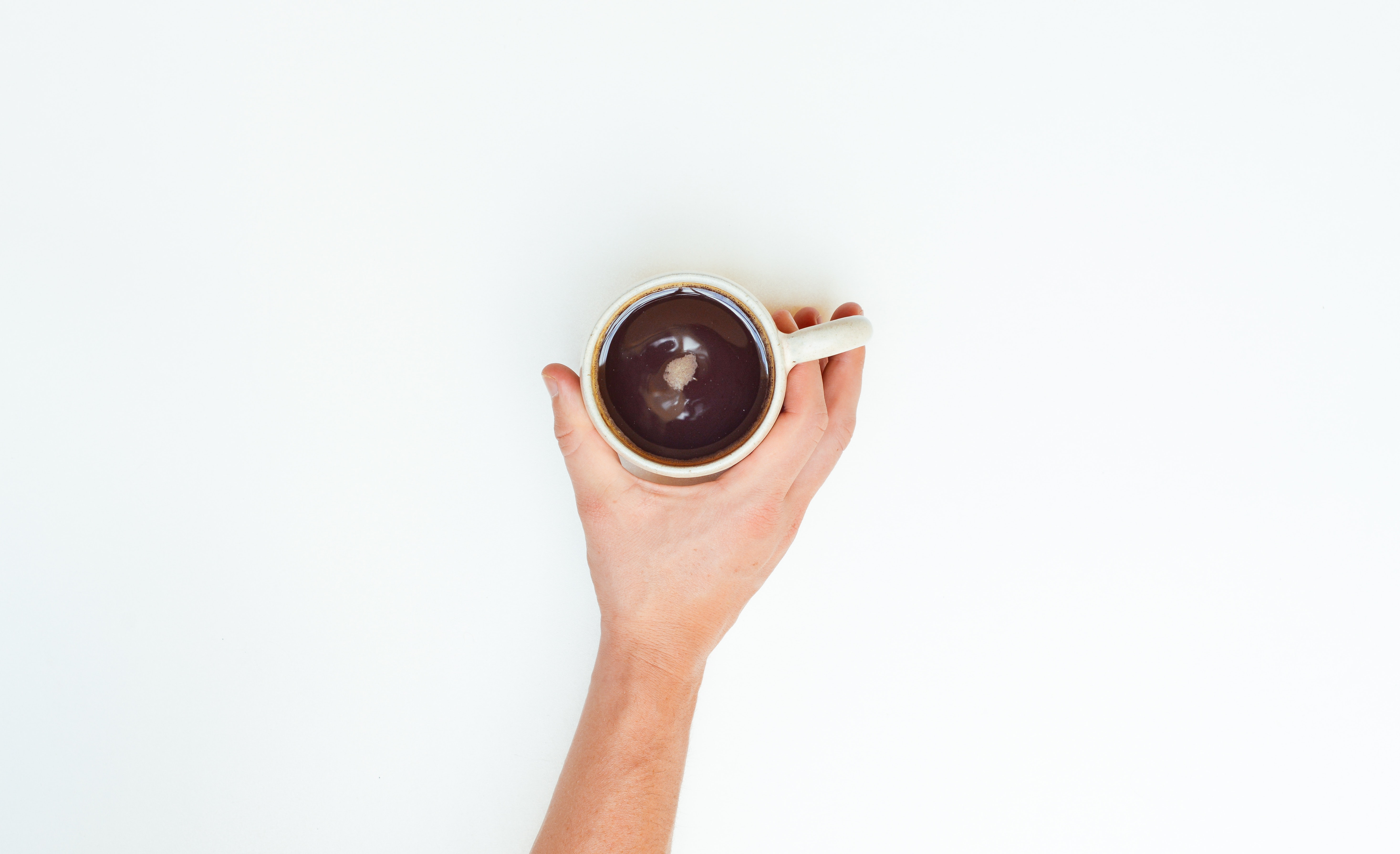 free stock photo of coffee cup hand