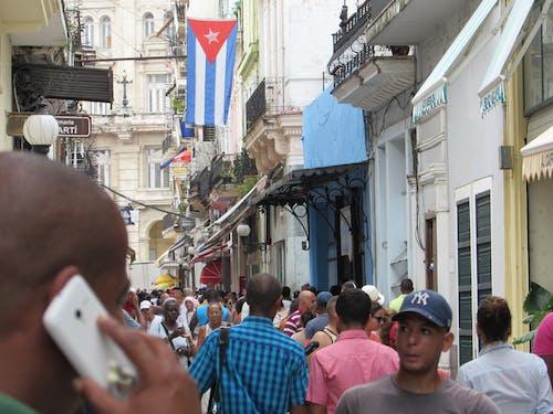Free stock photo of bandera de cuba, bicitaxis, calle obispo