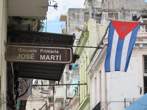 Free stock photo of bandera de cuba, cuba, edificios