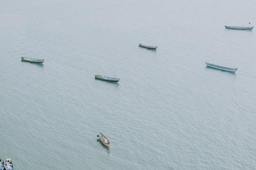 Fotos de stock gratuitas de aéreo, barcos, barcos de pesca
