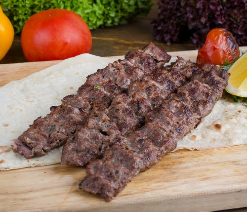 Grilled Meat on Chopping Board