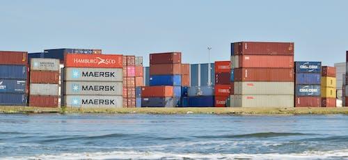容器, 貨櫃, 集装箱避风港 的 免费素材图片