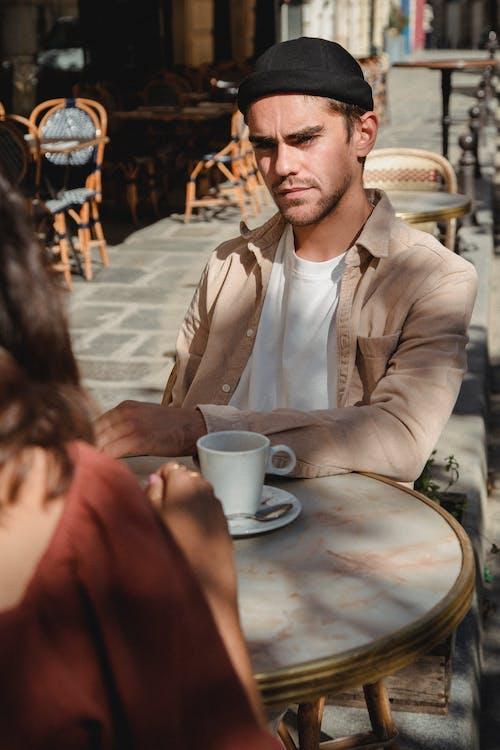 おとこ, お茶, カップの無料の写真素材
