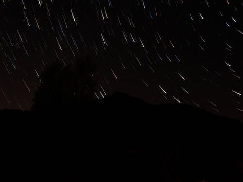 Long Exposure Shot of Night Sky