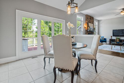 Dining Table and White Chairs