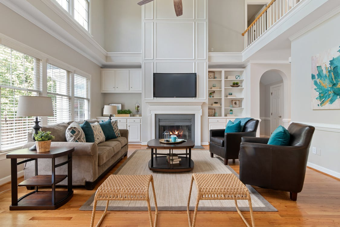 Couch and Armchairs in a Living Room