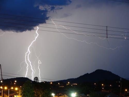 Long Exposure Shot of a Lightning