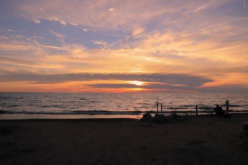 Free stock photo of 4k wallpaper, beach sunset, beautiful sunset