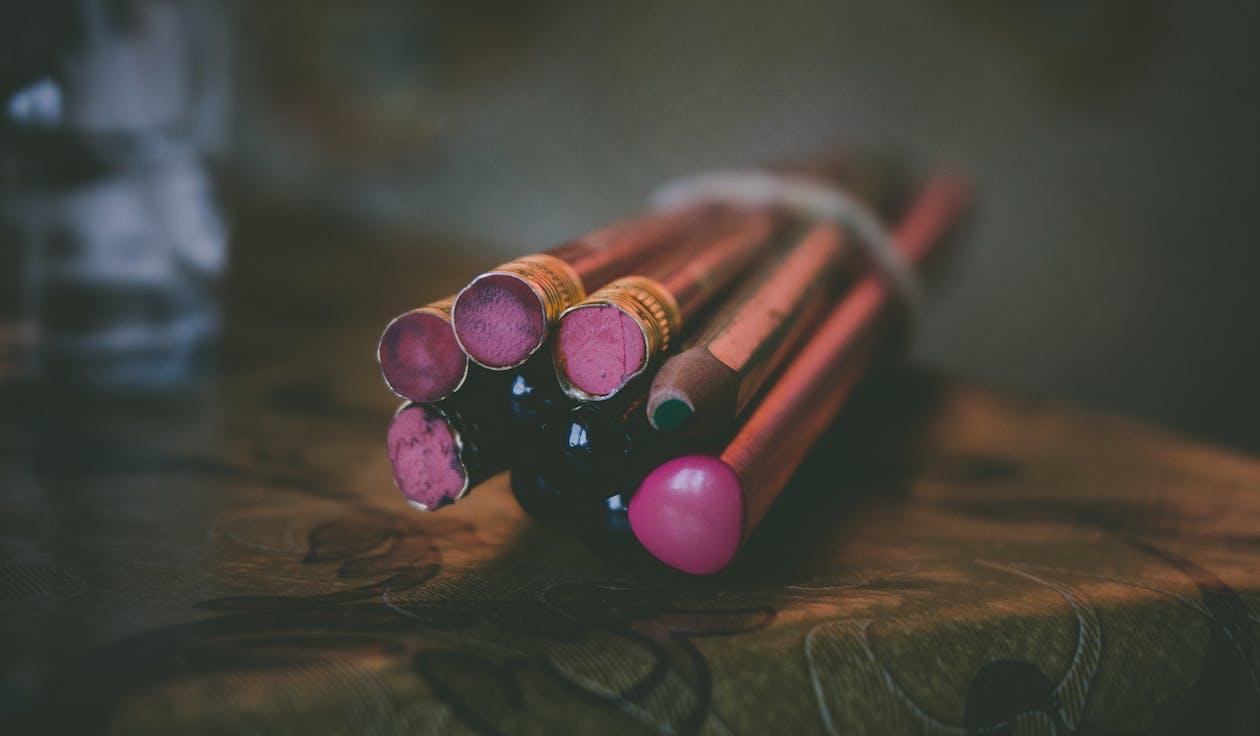 blyanter, fargeblyanter, fargerik